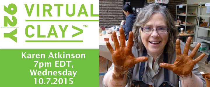 "92Y Virtual Clay Series – Get the ""GYST"" with Karen Atkinson"