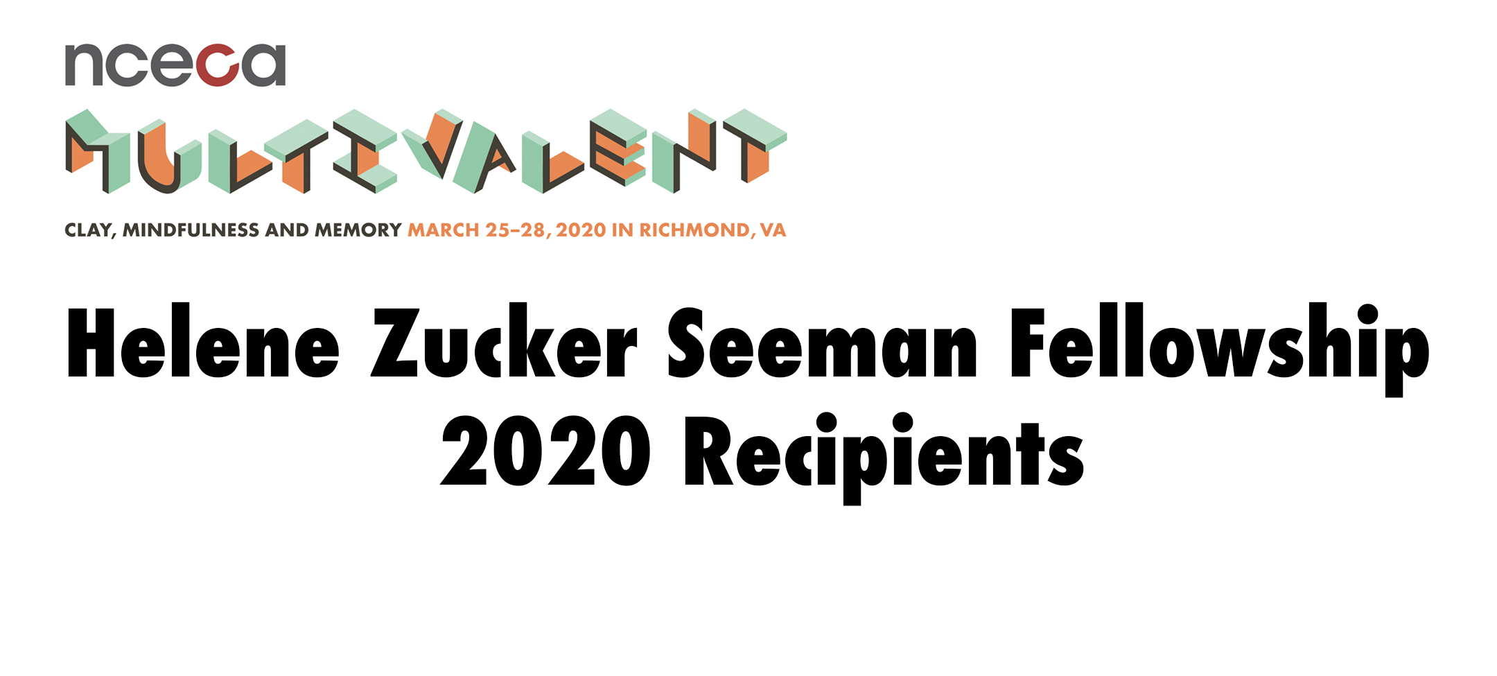 Helene Zucker Seeman Fellowship 2020 Recipients